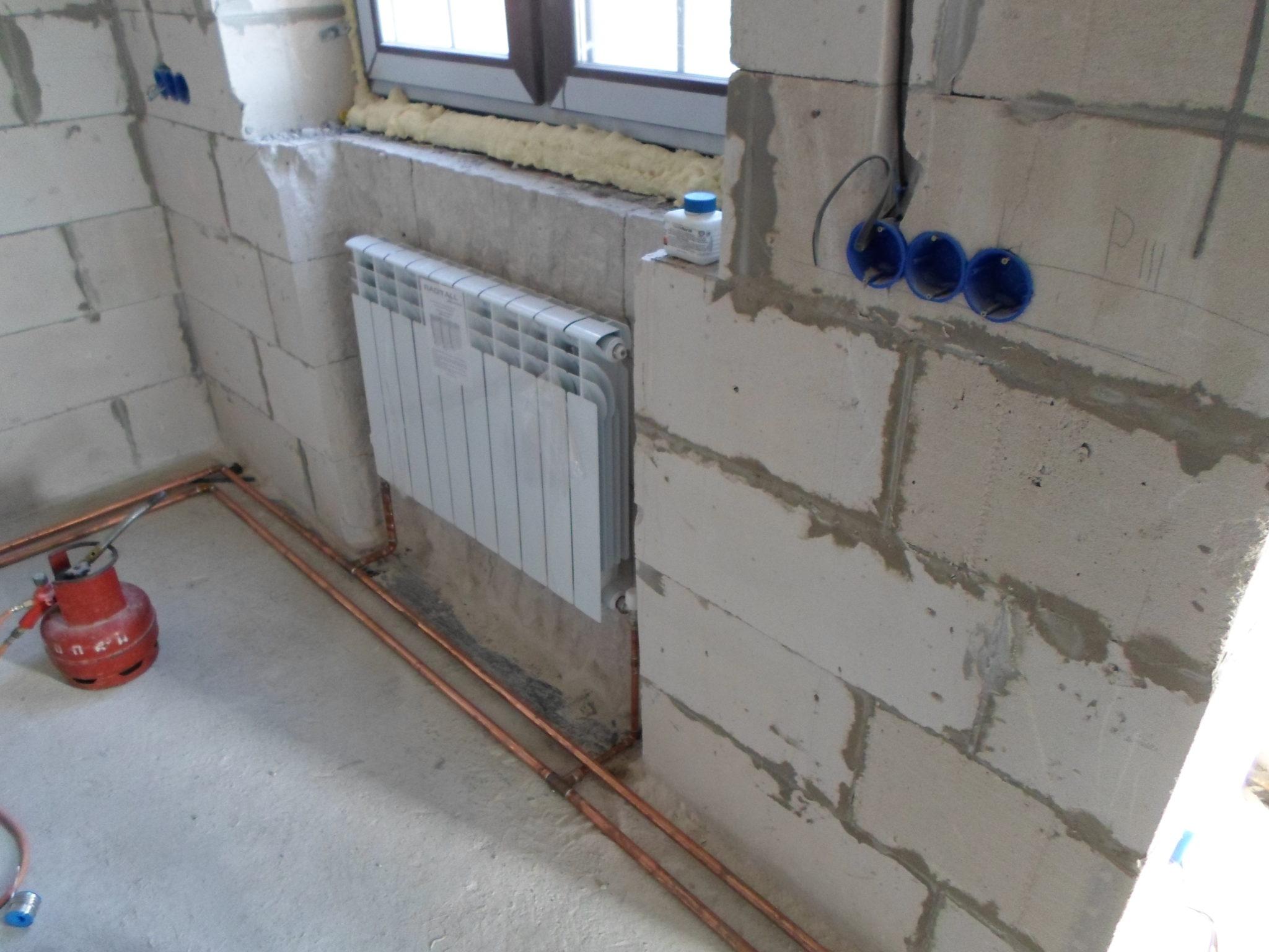 отопление дома из газобетона